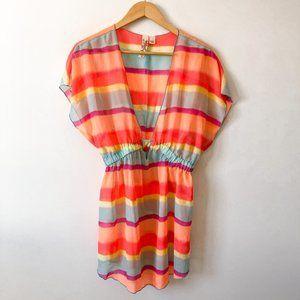 Miken Rainbow Swim Suit Cover Up Sz Large